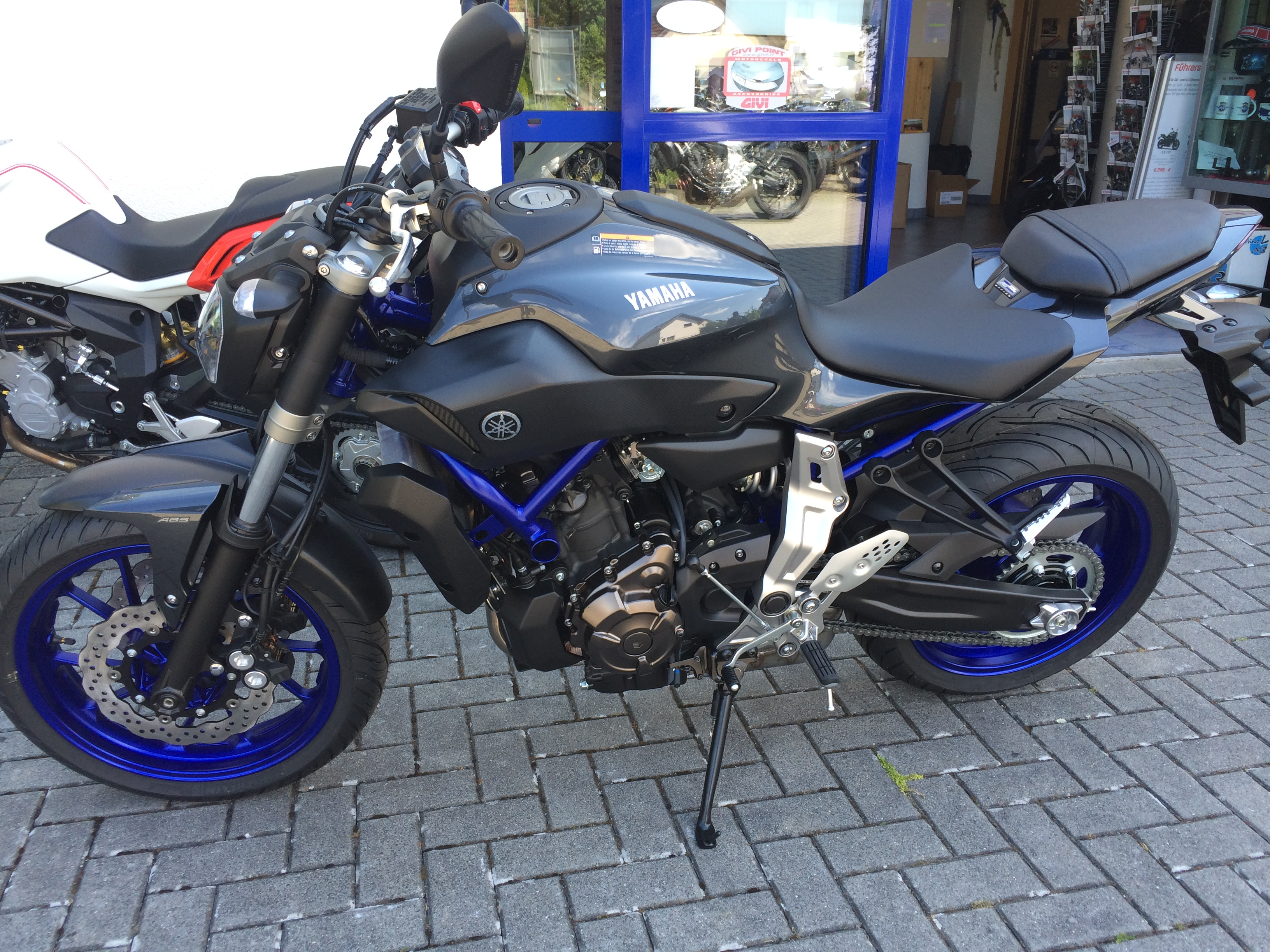 Unsere Gedrosselte: Yamaha MT 07 ABS
